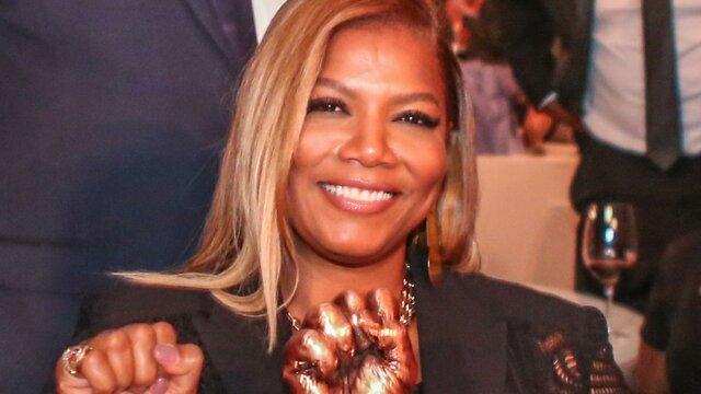 Queen Latifah wins a Grammy award from Best Rap Solo Performance.