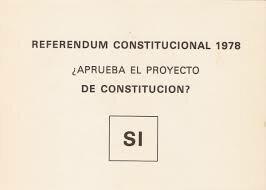 Aprobación por referéndum de la Constitución.
