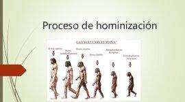 PROCESO DE HOMINIZACIÓN timeline