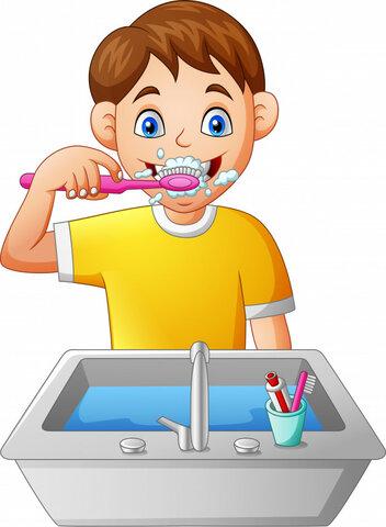7:30,se brosser les dents