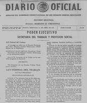 SE PUBLICA LA LEY FEDERAL DEL TRABAJO