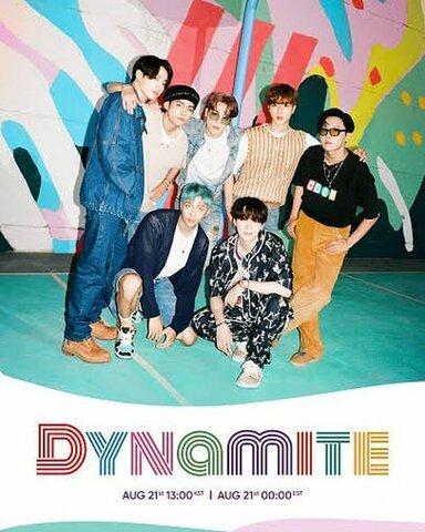 """BTS estrena su sencillo """"Dynamite"""""""