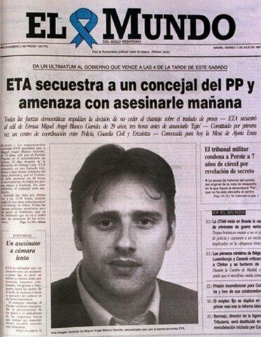 Asesinato de Miguel Angel Blanco por ETA (12/julio)