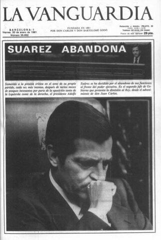 Dimisión de Adolfo Suárez. (29/enero)