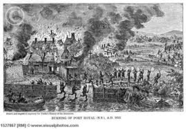 Port Royal was Destroyed