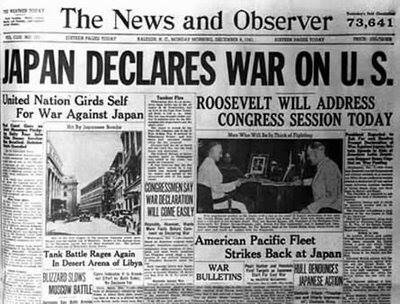 Japón declara la guerra a Estados Unidos