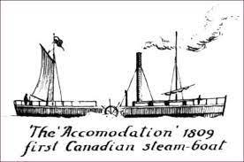 Mise en service du premier bateau à vapeur sur le Saint-Laurent