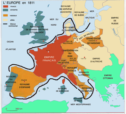 blocus continental en Europe
