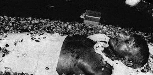 El funeral de gandhi