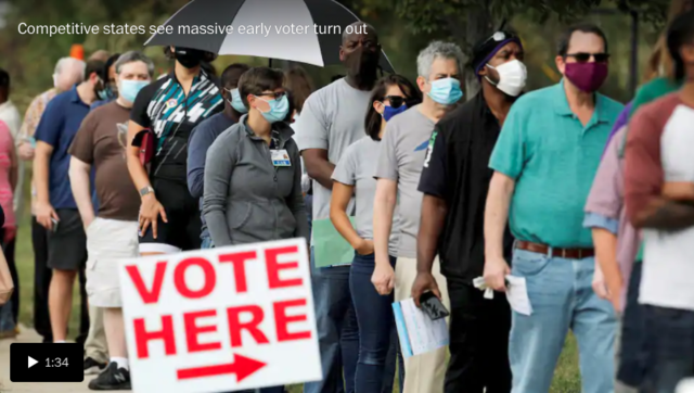U.S. reports nearly 100,000 new cases in one day as infections surge in battleground states