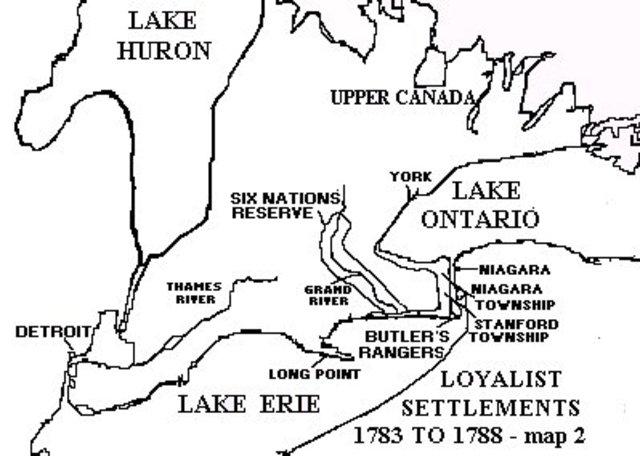 Settlement of the Loyalist