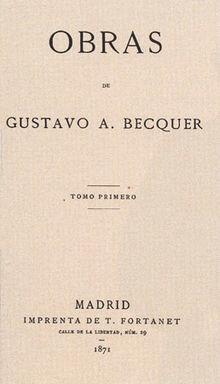 Rimas de Gustavo Adolfo Bécquer
