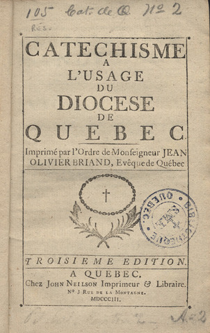 Catechism of the Quebec Diocese