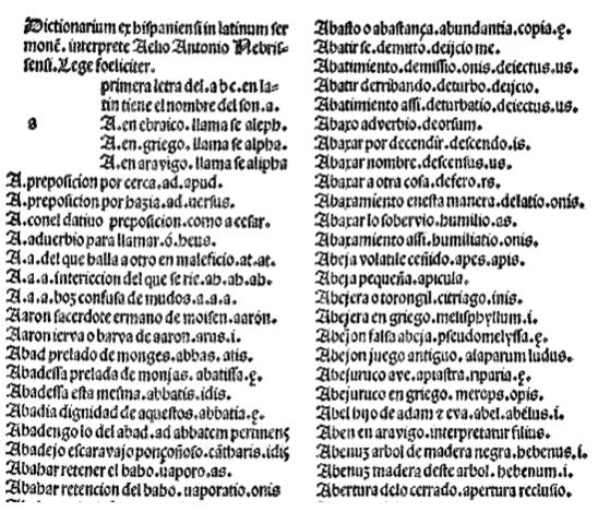 Vocabulario español-latino de Nebrija
