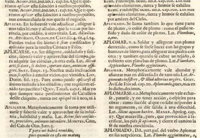 El diccionario de autoridades 1726-1739