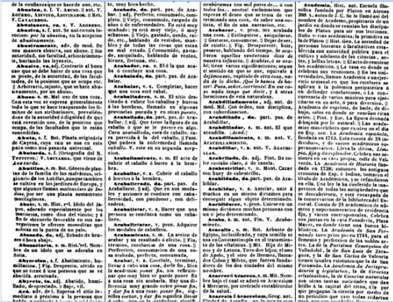 Diccionario Nacional o Gran Diccionario clásico de la lengua castellana de Joaquín Domínguez