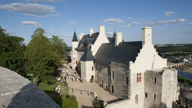 Castillo de Chinon. (Valle del río Loira).