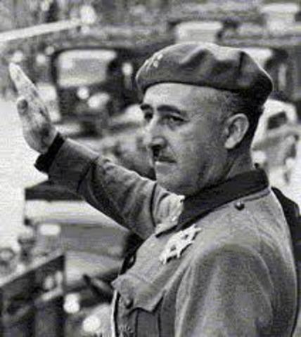 Comienzo de la dictadura de Franco.