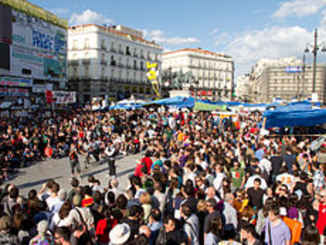 Inicio de las protestas del movimiento 15M