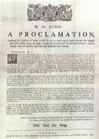 The Royal Proclamation in 1763