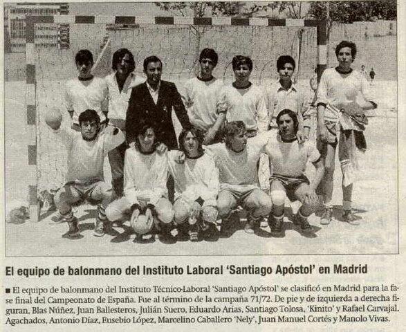 El equipo de balonmano del instituto se clasifica para la final del campeonato de España
