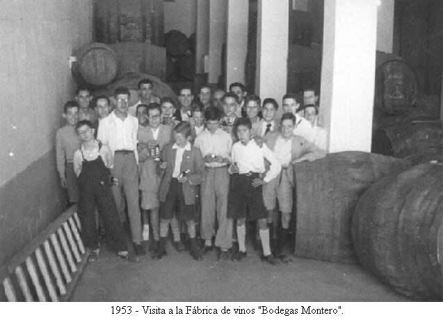 """Los alumnos visitan la """"Bodega de Montero"""""""