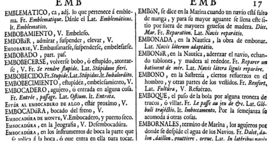 Diccionario de Terreros y Pando