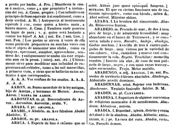 Diccionario de la lengua castellana con las correspondencias catalana y latina de Pedro Labernia