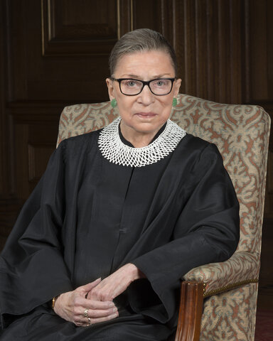 Ruth Bader Ginsburg-2nd women to serve on the Supreme Court