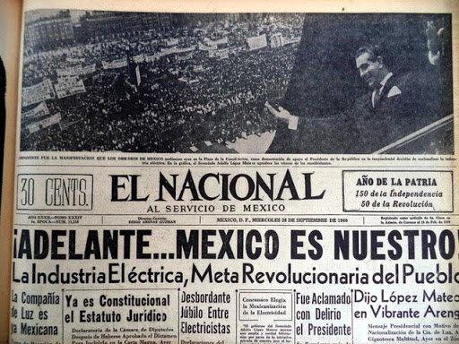 """NACIONALIZACIÓN DE """"LUZ Y FUERZA"""""""
