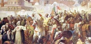 Los frany toman tierra santa arrasando con los musulmanes