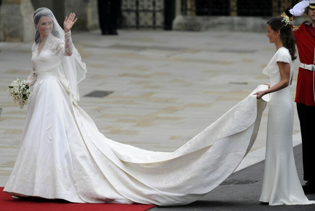 Wedding dress for Kate Middleton: The purpose of the dress was for it to be worn at Kate's wedding to Prince William, Duke of Cambridge.