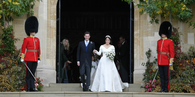 Wedding dress for Princess Eugenie of Britain: The purpose of the dress was for it to be worn at Princess Eugenie's wedding to Jack Brooksbank.