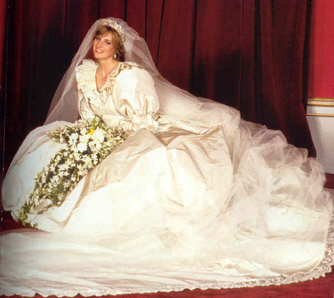 Wedding dress for Lady Diana Spencer: The purpose of the dress was for it to be worn at Lady Diana's wedding to Prince Charles of Britain.