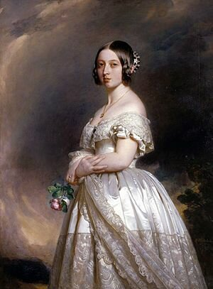 Wedding dress for Queen Victoria: The purpose of the dress was for it to be worn at Queen Victoria's wedding to Prince Albert of Saxe-Coburg and Gotha.
