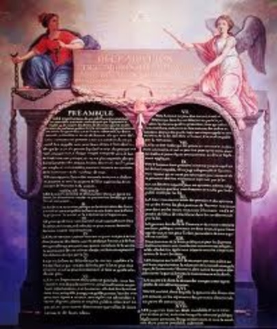 Declaration of the rights of man and the citizen.