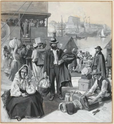 création du poste d'agent britannique d'immigration