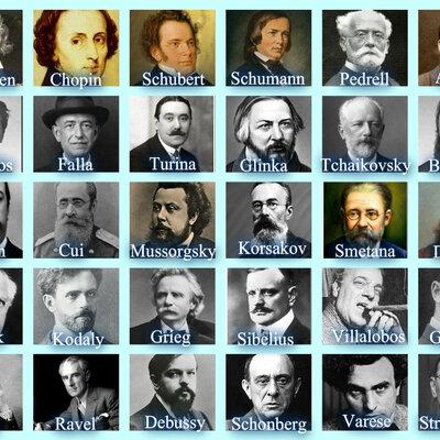Compositores de España del romanticismo timeline