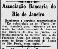 Afastamento do secretário Viçoso Jardim por motivo de saúde e eleição de Francisco Alves dos Santos Filho