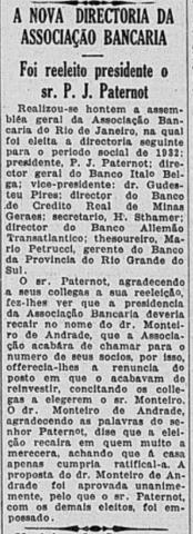 Dezembro de 1931: J.J. Monteiro de Andrade assume a presidência da Associação.