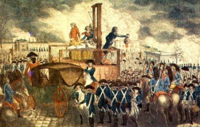 El rey Luis XVI es guillotinado