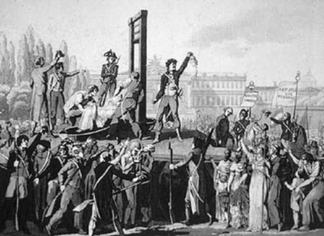 Los líderes de la fracción hébertistas son guillotinados