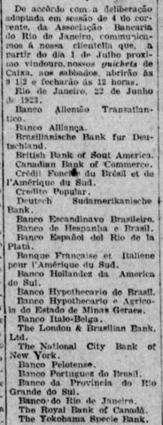 Julho: Padronização dos dias e horários de funcionamento dos bancos associados