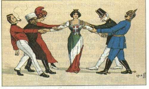Italia contesa tra potenze
