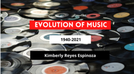 The Evolution of Music (1940-2020)  by Kimberly Reyes E timeline