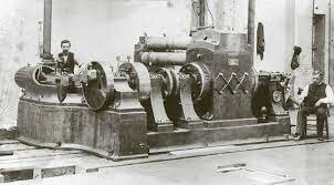 La primera central eléctrica