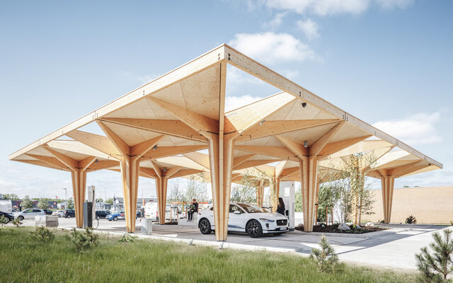 Ultra-Fast Charging Station for Electric Vehicles, Denmark  (The purpose of this project is to provide people a comfortable charging place which meets their needs for charging electronic vehicles and devices.)