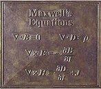 Las cuatro ecuasiones de Maxwell