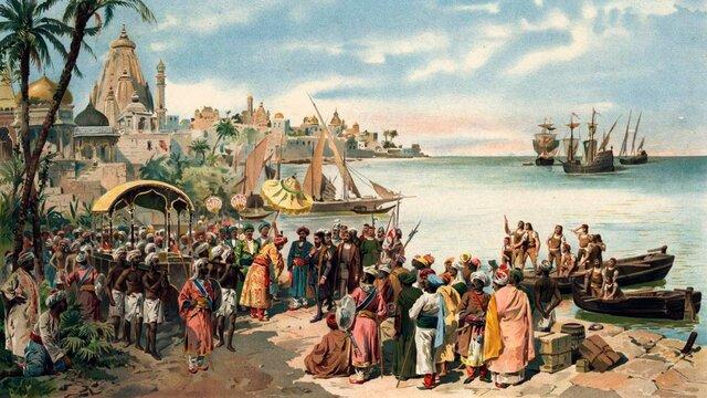 Vasco de Gama arriba a l'Índia