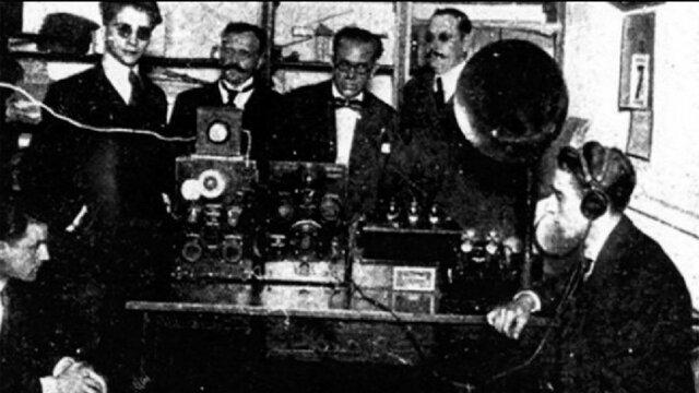 Primera transmicion de radio.